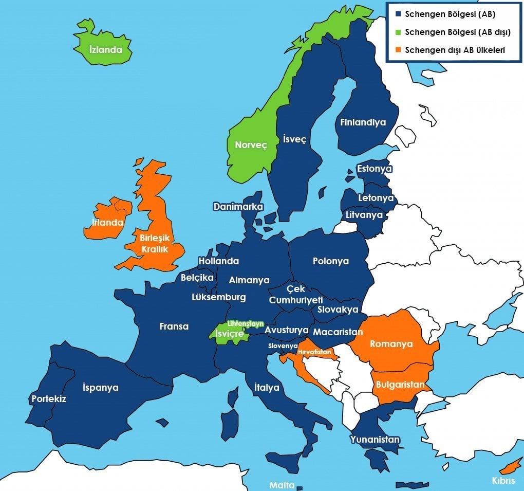 Schengen Ülkeleri
